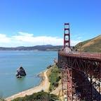 サンフランシスコ(カリフォルニア)  サンフランシスコの代名詞、ゴールデンゲート・ブリッジ(Golden Gate Bridge)。橋の北側のビスタ・ポイントからの眺め。   #sanfrancisco #california #goldengatebridge
