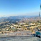 2021年2月7日(日) 大室山登山リフトからの下山時の眺め👀 開放感あって爽快な空中散歩でした✨  #大室山登山リフト #大室山 #静岡 #空中散歩 #絶景