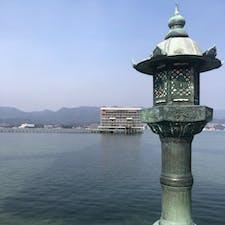 🍁広島🍁 2021/2/11  宮島に行ってきました⛩✨ 鳥居が工事中だったけど行けて良かった! 工事がまだ2〜3年かかるみたいだから完成したらまた行きたいな😊