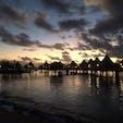 ニューカレドニア メトル島 水上コテージから覗くだけでもたくさんの魚やウミガメに会うことが出来ます🐠 海の美しさはもちろん、夜は天の川が見えました💫