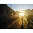 【🇷🇺Россия/Хабаровск】 シベリア鉄道 ハバロフスク駅 21時頃ウラジオストクからシベリア鉄道に乗り、朝7時過ぎ頃ハバロフスクにつきます。 シベリア鉄道に乗るのが夢でした。 次は始発から終点まで乗りたいです。
