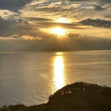 江の島展望灯台から見た夕日