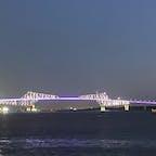 若洲海浜公園付近からみた夜の東京ゲートブリッジ