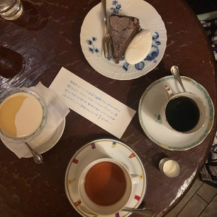 . 蛍明舎 素敵なマスターが経営してる喫茶店☕️ かぼちゃプリン 美味しかった〜!!🍮  #東京カフェ #本八幡カフェ