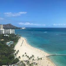. また行きたいな〜ハワイ 左手に見えるのが かの有名なダイヤモンドヘッド⛰