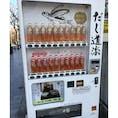 前から見るとこんな感じです。ボトルの中にあごが1匹入ってます。さすが京都、出汁文化って思っていたら、いろんな所で販売されているようでした。