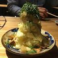 京都 うみねこ クラフトビールのお店 ポテトサラダです。トッピングを選べるようになってます。