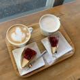 . peace coffee チーズケーキにたっぷりブルーベリージャムをかけてくれた ラテアートも可愛かった☕️  #千葉カフェ #茂原カフェ
