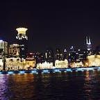 上海黄浦江クルーズ船から見た外灘 もはや香港より派手 20年ぶりだったので驚いた
