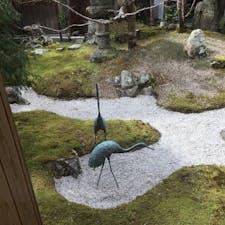 鶴喜そばのお庭