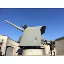 【🇷🇺Россия/Владивосток】 ウラジオストク要塞博物館 大砲は操作できます。 また、銃を持って撮影も可能です。