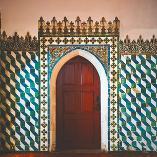 シントラ宮殿のアラブの間 ポルトガル最古のアズレージョ  #シントラ宮殿 #シントラ #ポルトガル #アズレージョ