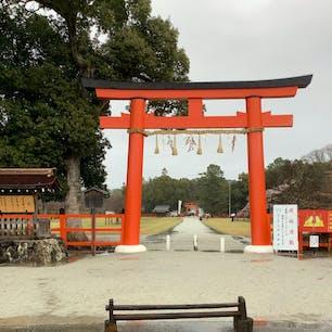京都 上賀茂神社 雨降りだったので、少し残念。