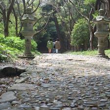 🌏福岡県糸島市 📍桜井神社  桜井神社の中にある大神宮への道