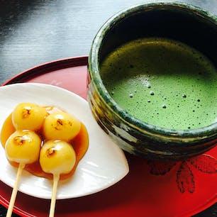 2021.4.3 松川茶屋 お抹茶とみたらし団子 桜を眺めながら