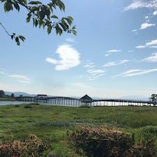 青森 鶴の舞橋 日本一の三連太鼓橋とのこと 景色が綺麗でした