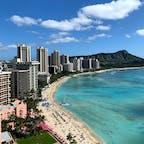 ハワイ シェラトン・ワイキキ・リゾートからの景色。
