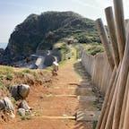 神島 カルスト地形 観光遊歩道