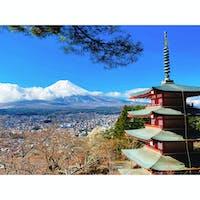 富士山 五重塔 忠霊塔