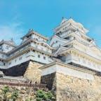 姫路城  真っ白なお城も美しいけれど 石垣の造り方も興味深かった世界遺産