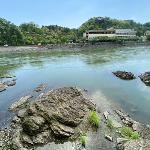 宇治川の亀石