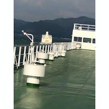 入港前の阪九フェリーを追跡するきたきゅしゅうⅡ