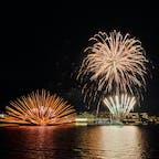 洞爺湖の花火 船に乗り湖上から鑑賞 ゆらゆらキレイ✨