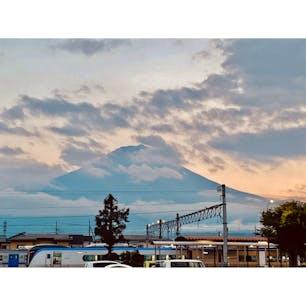 富士山 河口湖駅 夕焼け