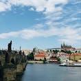 カレル橋 カレル城 in Praha 2018/6/29-30 たまたま目にしたあの時からずっと来たかった場所!でも観光客多すぎて思ったのと違った😅