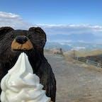 寒くてもソフトクリーム。