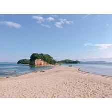 小豆島 エンジェルロード 砂浜