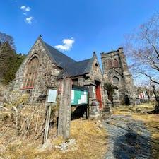 栃木県日光市の日光真光協会。 県の有形指定文化財で、石造の落ち着いた雰囲気の教会です。