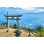 1時間ほど山道を登りました #高屋神社 #香川