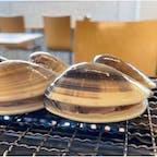 千葉県 海の駅九十九里  フードコート 葉武里  フードコート3店舗 色々食べけど、やはり蛤焼き  5センチを超える蛤6個で1500円は お手軽に安くて美味しい