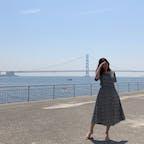 大蔵海岸から見える明石海峡大橋🐠  #神戸#明石#海岸