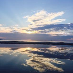 ウユニ塩湖…ではなく福岡の岩谷海岸☺︎