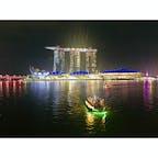 シンガポール マーライオンパーク マーライオン公園 マリーナベイサンズ 夜景