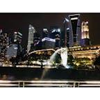 シンガポール マーライオン マーライオンパーク マーライオン公園 夜景