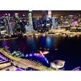 シンガポール マリーナベイサンズ マーライオン 夜景