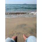 大入海岸で日向ぼっこ