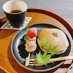 吹上の森 森の中に佇む古民家カフェ もっちりどら焼き&彩り団子セット 兵庫 三田