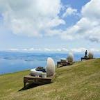 琵琶湖バレイ山麓駅からロープウェイに乗って山頂にいき、そこからさらにリフトで蓬莱山に行くと360度の大パノラマを楽しめます。 #琵琶湖バレイ #琵琶湖テラス #café360