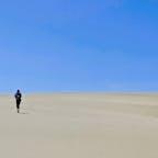 鳥取砂丘と私 思っていた以上の砂漠感でした!ラクダもいたよ。  #鳥取砂丘 #TottoriSandDunes