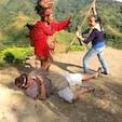 フィリピン バナウエー 世界遺産の棚田でパートナーと些細な事で喧嘩に成りました「サント!なんだ、もう一度言ってみろ!」😨 ごめんなさい🙏もう貴方の名前は言い間違いません! 仲裁に入ったイグロス人に救われました😰🤗   #サント船長の写真 #フィリピン #フィリピン世界遺産