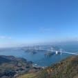ここからの景色も ワクワクする場所  四国へ向かう途中! 天気も最高☀️ #亀老山展望公園