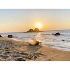 糸島の夫婦岩とサンセット