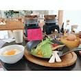 #釜飯 卵かけご飯 #チーズアボカドハンバーグ  #愛知 #幸田 #cafe open