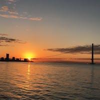 日の出 大蔵海岸 明石海峡大橋