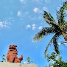 沖縄といえばシーサー 家の守り神 #青空#シーサー