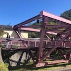 あやとり橋 石川県 此の橋を歩くとメチャ揺れますね、多分揺れる様に設計されたと思いますが、それにしても良く揺れます。  #サント船長の写真 #全国橋巡り #石川県